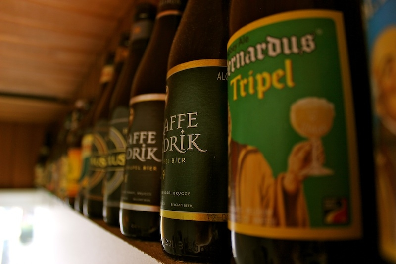 Belgian beer bottles